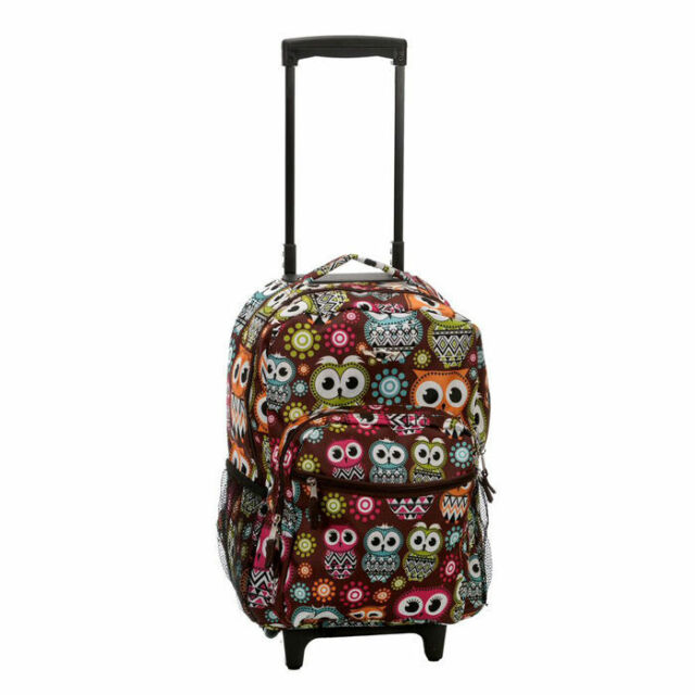 Rockland Luggage 17 Inch Rolling Backpack Owl One Size | eBay