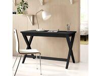 Black Solid Wood Writing Desk - Slight damage