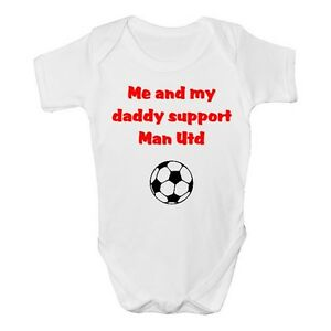 Manchester United Funny Baby Grow / Vest / Sleepsuit - Man Utd Babies Clothing