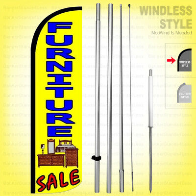 Furniture Sale - Windless Swooper Flag Kit 15 Feather Banner Sign Yq-h