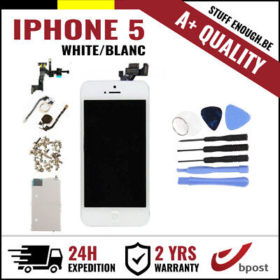 A+ LCD TOUCH SCREEN SCHERM ÉCRAN FULL ASSEMBLY WHITE BLANC + TOOLS FOR IPHONE 5