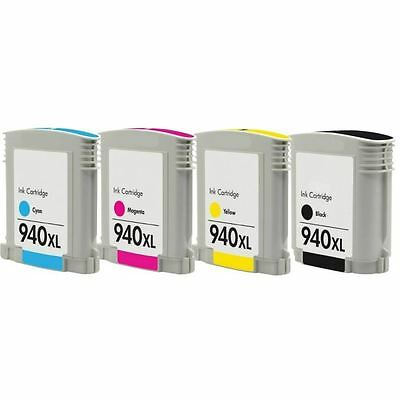 4 CARTUCCE STAMPANTE PER HP 940 XL OfficeJet Pro 8500a Plus A910g / Pro 8500