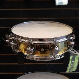 "Dixon snare-caisse claire 14""x3.5"" Piccolo Brass shell usagée-used"