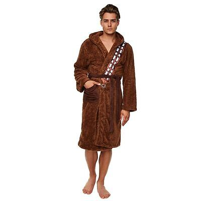 Official Star Wars Chewbacca Brown Fleece Dressing Gown With Sash - Bath Robe - Chewbacca Sash