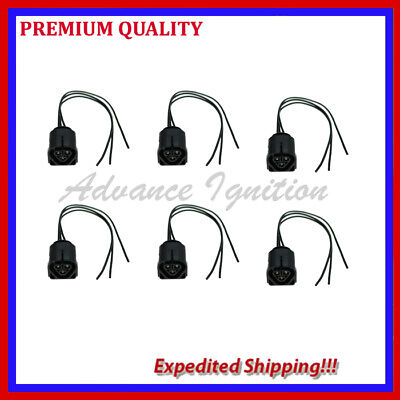6PC IGNITION COIL CONNECTOR PIGTAIL CRC323 FOR BMW 3 5 7 UF522 UF592 UF667