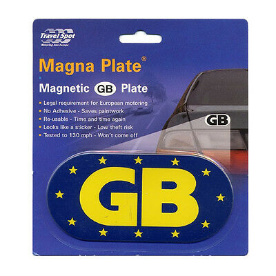 Travel Spot Magnetic Car Euro GB Great Britain Plate Badge Sticker EU Law
