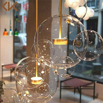 LED Glass Bubble Pendant Lamp Chandelier Ceiling Light Living Room Light Fixture
