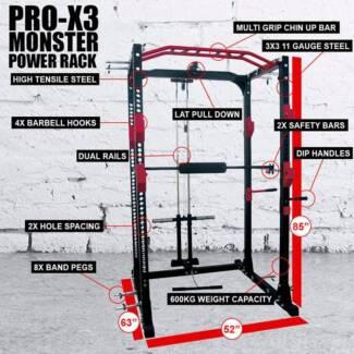 800KG PRO-X3 MONSTER HEAVY DUTY COMMERCIAL POWER RACK Wangara Wanneroo Area Preview