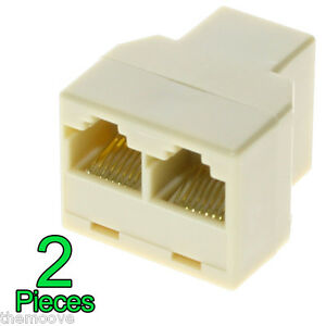 RJ45 CAT5 Ethernet Cable LAN Port 1 to 2 Socket Splitter Connector Adapter OZ