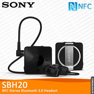 Sony SBH20 NFC A2DP AVRCP Multipoint Stereo Bluetooth 3.0 Headset Earphone Black