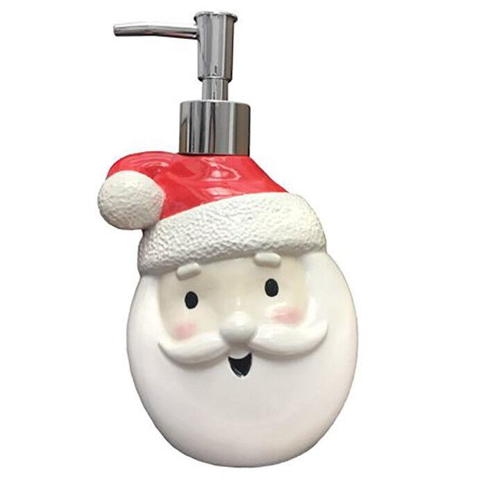 NWT Christmas Holiday Bathroom Santa Face Soap Lotion Pump D