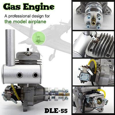 DLE 55 Benzin Motor Vergaser mit dem Externen Alu Dämpfer 5,5 PS/7500 UPM 55cc
