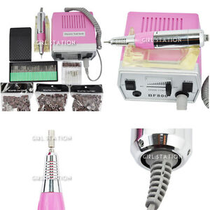 Electric Nail File Drill Set & Free Hard Gold Carbide Bit #800