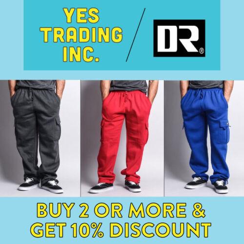 Dr Mens Plain Cargo Pants Casual Sweatpants Heavyweight 5 Pocket Joggers Harem