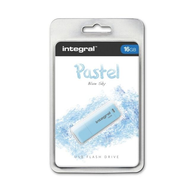 Integral Pastel 16GB USB 2.0 Sky Blue Flash Drive INFD16GBPASBLS