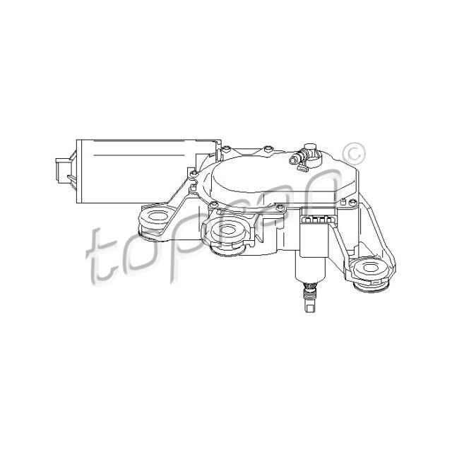 TOPRAN Wiper Motor 110 741