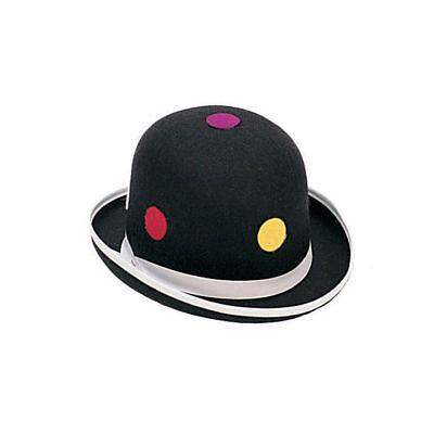 Clownshut Melone mit Punkten, schwarz Kostümzubehör Clownskostüm Karneval