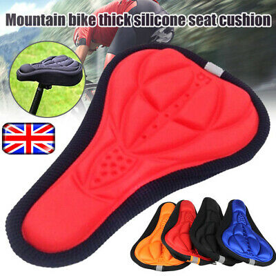 Cycling Bicycle Bike Silicone Saddle Seat Cover Non Slip 3D Gel Cushion Soft Pad