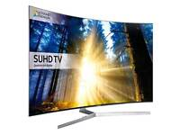 "Samsung 65"" Curved super 4k SUHD smart WiFi TV top model 9 series ultra slim . New model"