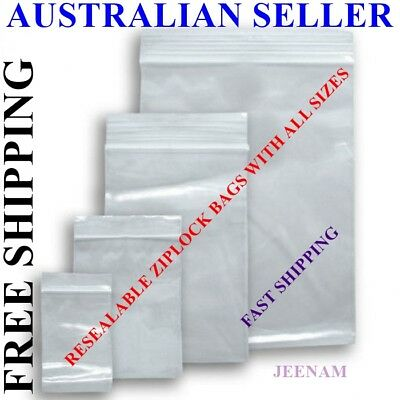 Resealable Zip Lock plastic bags BULK with many sizes and quantity + FREE SHIP