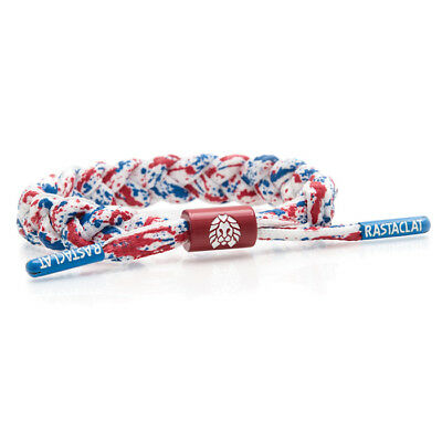 Brand New RASTACLAT Dazzle White Art Splatter Braided Shoelace Bracelet