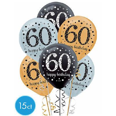 Sixtieth 60th Birthday Sparkling Celebration Latex Balloons Party Supply Favors](60 Birthday Balloons)