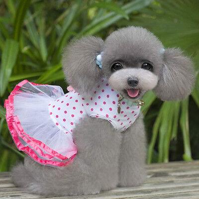 Dog Cat Bow Tutu Dress Lace Skirt Pet Puppy Dog Princess Costume Apparel Clothes