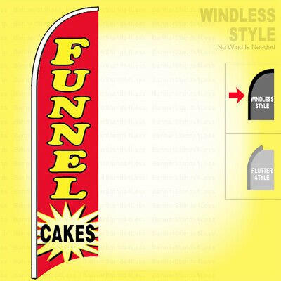 Funnel Cakes - Windless Swooper Flag 2.5x11.5 Ft Feather Banner Sign Rb