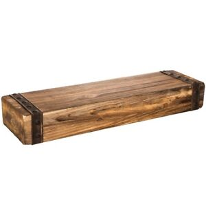 Rustic Chunky Wood Floating Wall Shelf Shabby Chic Home Shelving New