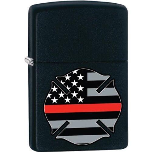 Zippo Lighter - Thin Red Line Cross Black Matte - 854771