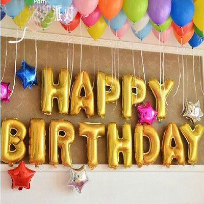 """16""""Letter&Number Foil Balloons Party Birthday Wedding Decoration ..."""