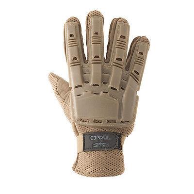 New Valken Paintball Airsoft Full Finger Plastic Gloves - Tan Medium M