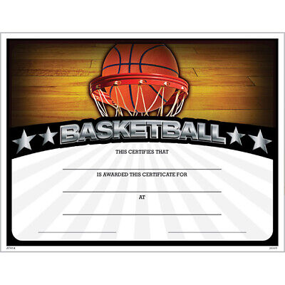 Basketball Award Certificate, Pack of 15](Certificate Of Award)
