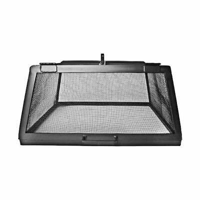 """Master Flame 42"""" x 42"""" Fire Pit Screen w/ Hinged Access Pane"""