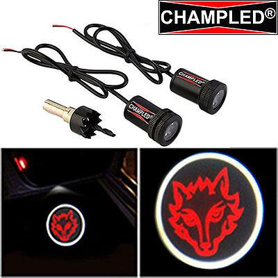 Led Projector Logo Emblem Symbol Sign Badge Under Door Step Light Car Fire Wolf