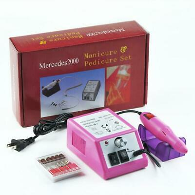 Kit de máquina pulidora de uñas acrílica eléctrica profesional, brocas para mani