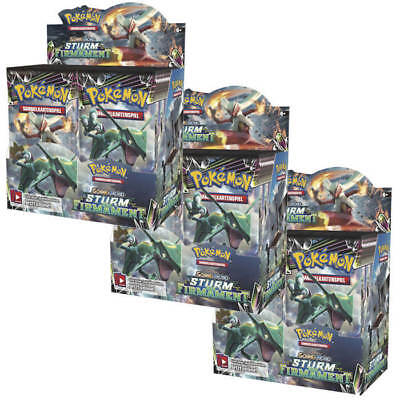 Pokemon Karten - Pokemon Sturm am Firmament - 3 Displays (108 Booster) - DE OVP