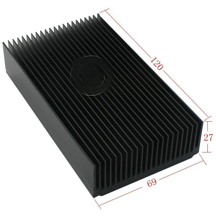 2pcs Aluminum heat sink module heat radiation of 69*27-120MM black oxide