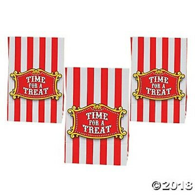 FOURTH OF JULY ~ 12 Mini Circus Carnival Red Treat Bags Birthday Party Favors (Red Treat Bags)