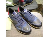 Valentino Blue Camouflage trainers
