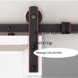 New Rustic Sliding Door/Barn Door Hardware Asst. Styles & Finish
