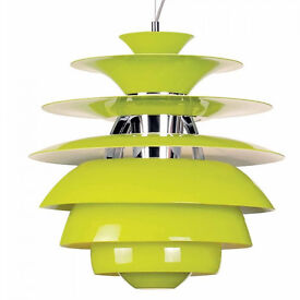 Replica of Poul Henningsen Snowball pendant in green