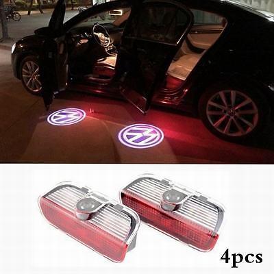 4Pcs CREE LED door step Laser Projector courtesy light for VW Passat 2011-2014