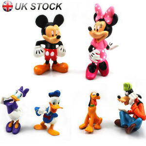 Mickey Mouse Clubhouse 6Pcs Figures Collection Set PVC Toys Playsets Cake Topper