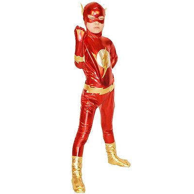 Kinder Jungs Der Blitz Cosplay Superheldkostüm Halloween Bodysuit Comic Con