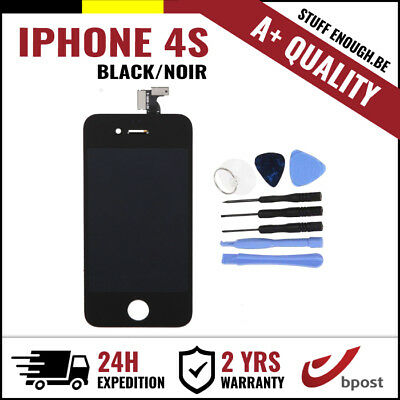 A+ LCD TOUCH SCREEN VITRE DISPLAY/SCHERM/ECRAN BLACK NOIR & TOOLS FOR IPHONE 4S