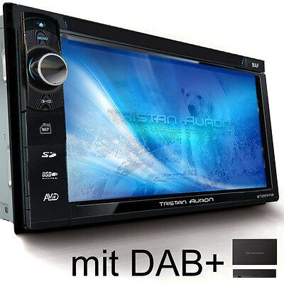 AUTORADIO MIT DAB+ Navi NAVIGATION BLUETOOTH TOUCHSCREEN DVD USB MP3 Doppel 2DIN