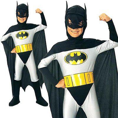 Batman Superhero Halloween Cosplay Party Kids Outfit Boys Fancy Costume Yr 3-12 - Batman Outfit Kids