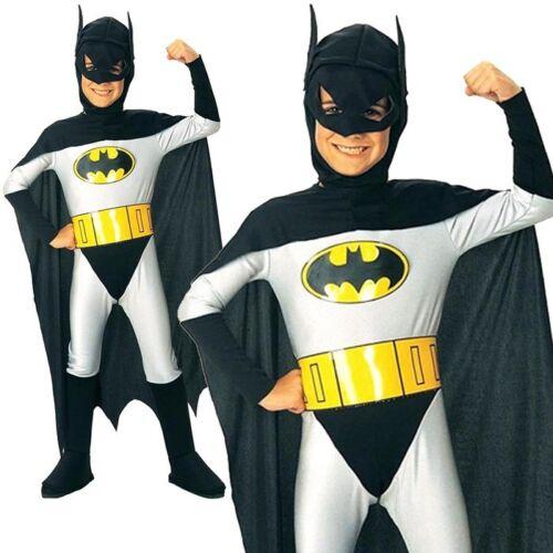 Batman Superhero Halloween Cosplay Party Kids Outfit Boys Fancy Costume Yr 3-12
