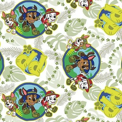 Jungle Paw Patrol Pups Children premium 100% Cotton Fabric by the Yard](Paw Patrol Fabric)